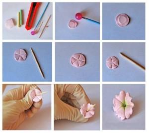 Цветы из полимерной глины » Master classy - мастер 10