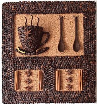 Панно из кофе мастер класс