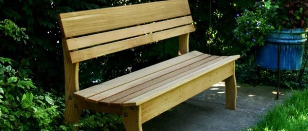 как построить скамейки