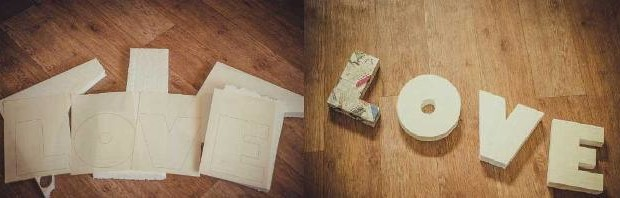делаем макет буков из пенопласта