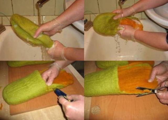 Не спешите, шерсть не должна отваливаться, поэтому продолжайте её разминать ещё около часа