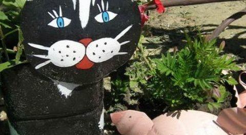 Кошка из бутылки пластиковой своими руками