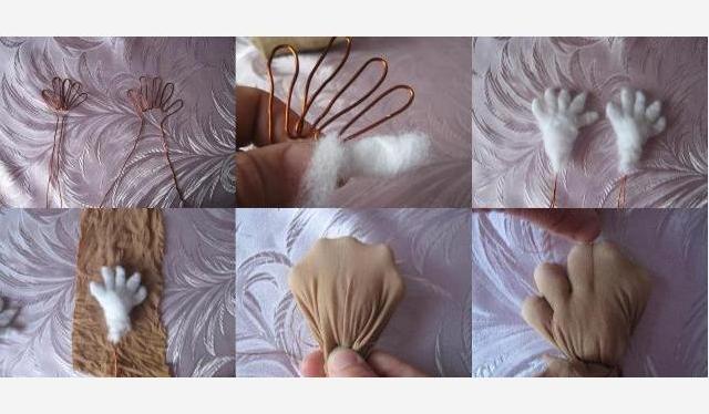 Глаза можно использовать пластмассовые от старых кукол или сделать самостоятельно из картона разного цвета