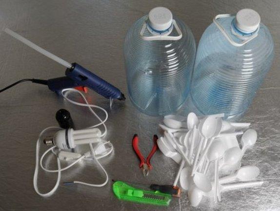 Материалы для изготовления люстры из ложек своими руками: