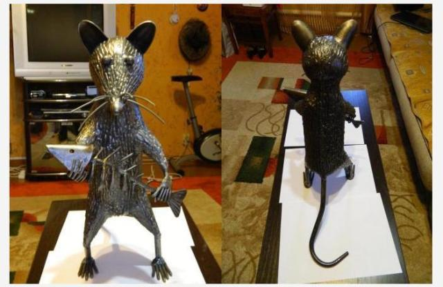 Металлическая поделка крыса своими руками