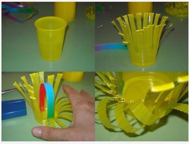 Поделки из одноразовой посуды своими руками для детей в детский сад