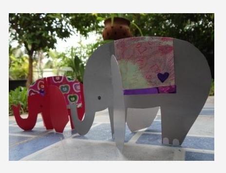Поделка слон своими руками из картона