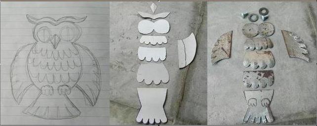 Приступим к изготовлению поделки из металла - совы