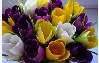 Сделать поделку цветов своими руками фото 97