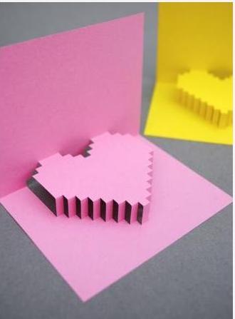 Поделки валентинки своими руками - объемная открытка