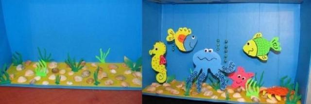Как сделать поделку на тему подводный мир