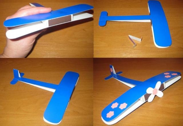 Как сделать из картона самолёт который летает