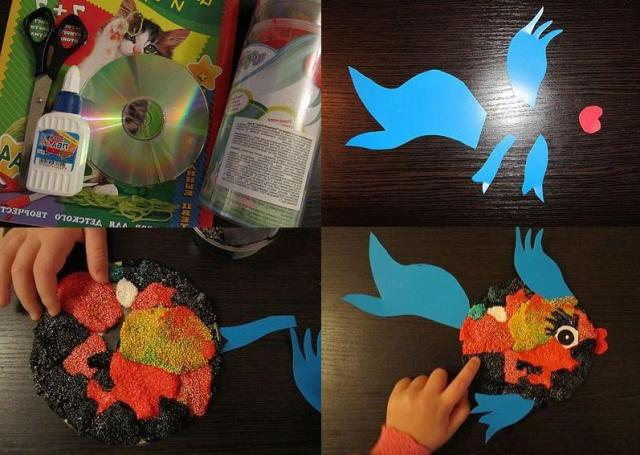 Поделка для детей из CD дисков