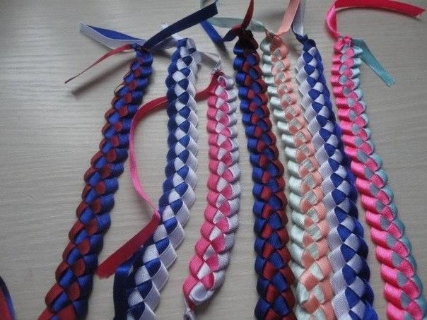 Плетение фенечек из лент своими руками