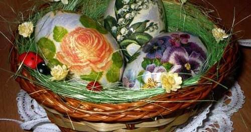 Декупаж яиц к Пасхе мастер классы: пейп-арт, декопатч