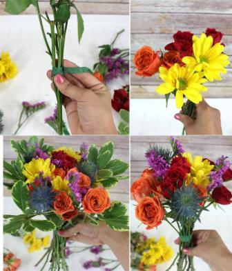 Мастер-класс букет цветов своими руками