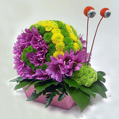Экибана своими руками из живых цветов 84