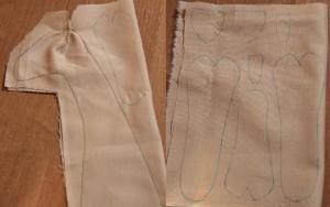 Материал для тела лучше всего подбирать пастельного смуглого цвета, как в оригиналах Тильда
