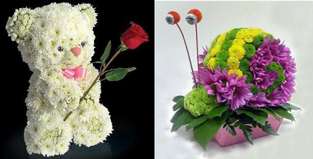 Поделки из живых цветов своими руками для конкурса 57