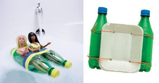 Катамаран из пластиковых бутылок
