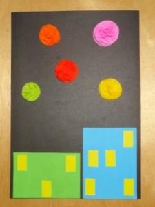 Аппликация салют Победы для дошкольников
