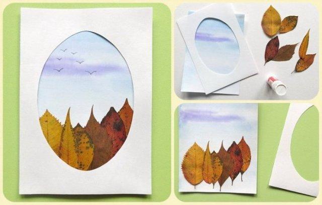 Осенняя картина своими руками