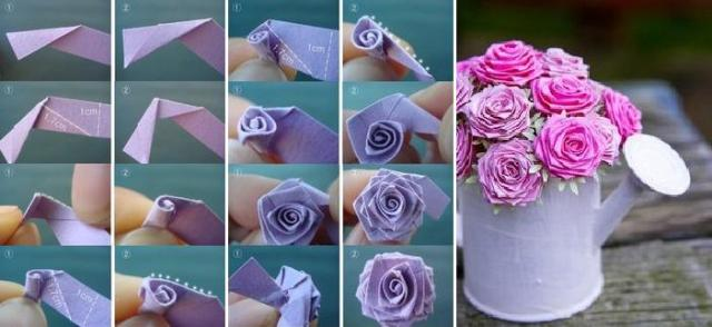 Розы из лент своими руками пошаговое фото видео