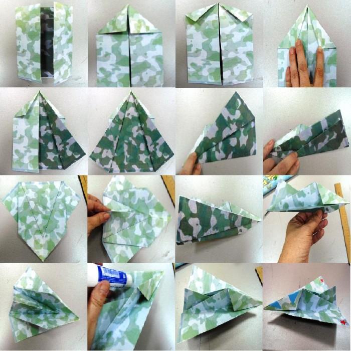 Поделки с детьми из бумаги оригами