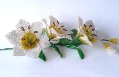 букет цветов из бисера своими руками
