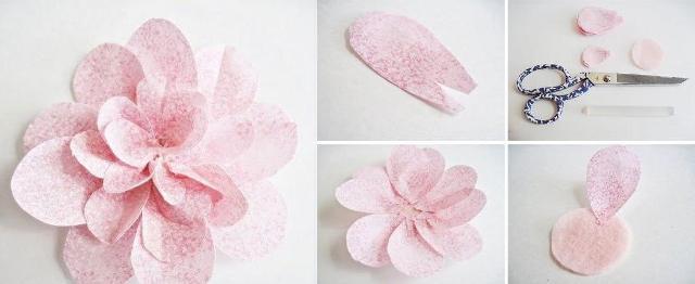 Для изготовления представленного цветка вам потребуется бумага или достаточно плотная ткань, которая способна хорошо держать форму.