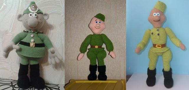 Как сделать солдата своими руками фото