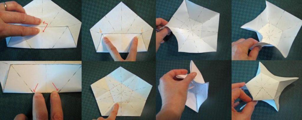 Предлагаем сделать к 9 мая пятиконечную звезду из бумаги