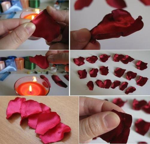 Теперь сделайте из бумаги ещё одну выкройку лепестков розы