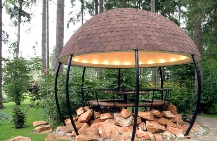 Садовая ротонда – круглое строение с куполом, по периметру которого расположены колонны