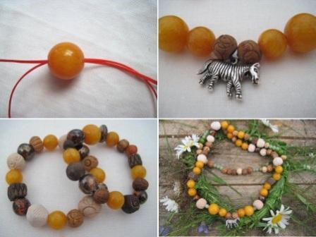 ожерелье из камней своими руками