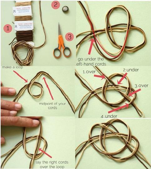 Плетеный браслет схемы фото
