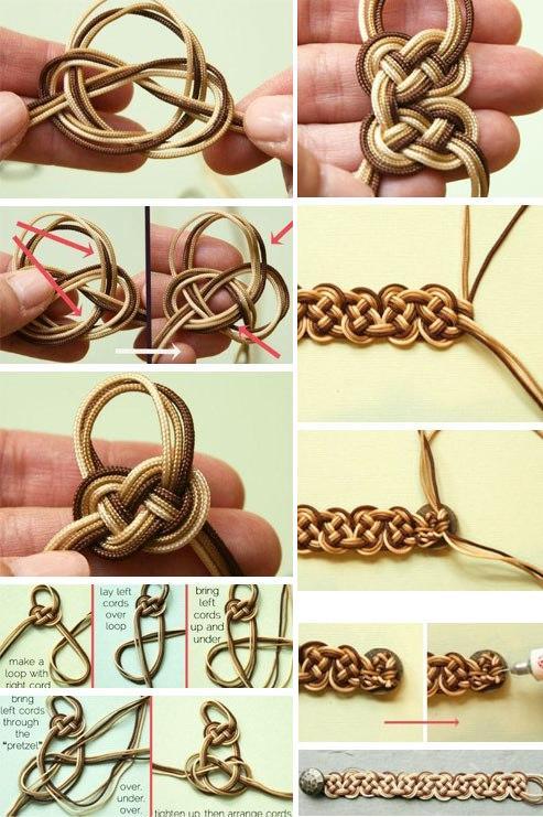 Как делать плетеные браслеты
