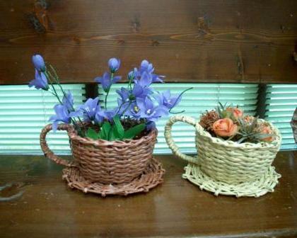 Плетение чашки из газетных трубочек мастер класс