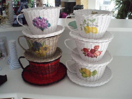 Мастер-класс чашка с блюдцем из газетных трубочек