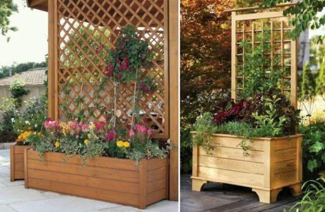 Цветочницы для вьющихся растений