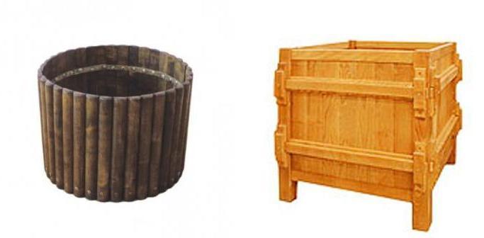 Кадки для цветов из деревянных досок