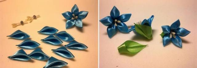 Отдельно сделайте лепестки и приклейте их в область чашелистика самого цветка