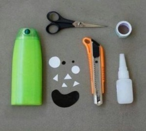 Материалы для карандашницы-монстры из бутылок: