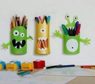карандашницы своими руками из подручных материалов