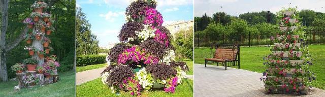 Современная вертикальная цветочница