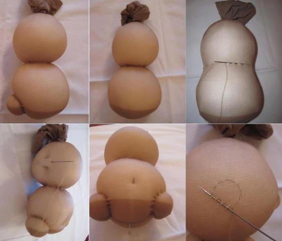Как сделать куклу из колготок своими руками фото 653