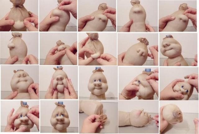 Куклы из колготок и пластиковой бутылки