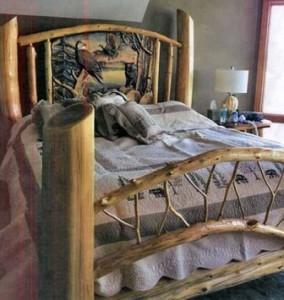 кровать тоже можно сделать из коряг
