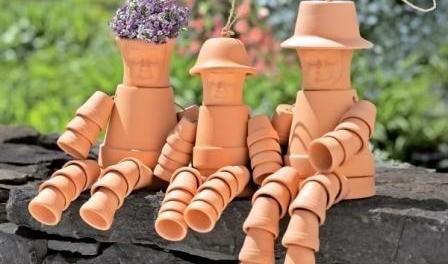 Поделки из цветочных горшков своими руками