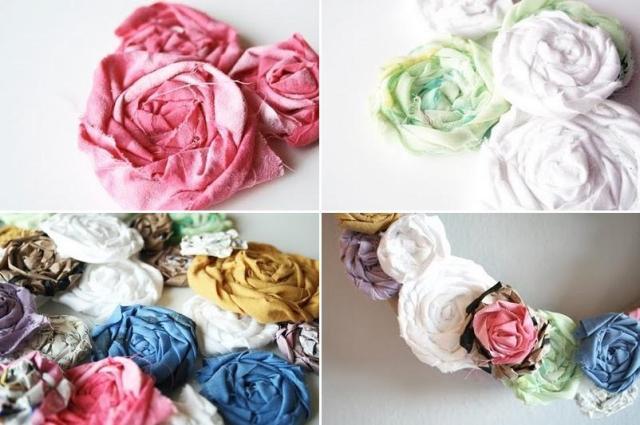 Не забывайте промазывать ткань клеем, чтобы цветок получился прочным и не разворачивался